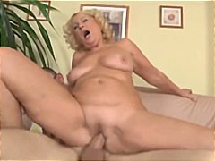 Blonde mature cougar pays the plumber with a different shape of trade