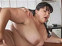Asian bbw ravages her doc and guzzles