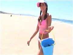 Lela starlet pick up at the beach and plowed