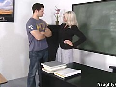 Emma starr teaches student about harassement by screwing him