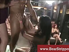 Ladies enjoy fooling around with strippers