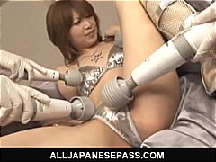 Rika sakurai gets lots of hitachi all over her figure and gives a jizz-shotgun blowing.