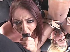 Sophie dee and anit blue are together to gargle lot of firm chisel