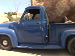 Rachel roxxx lets a redneck guy penetrate her in the back of his truck