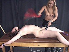 Dominatrix plowing whore with hookup fucktoys