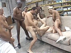 Bobbi Starr, gangbang, interracial