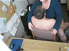 Poking my crazy gigantic bbw secretary on hidden cam