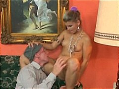 Messy old boy seduces a truly molten splendid blonde...