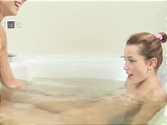 Teenage kat lesbo bathing, part two