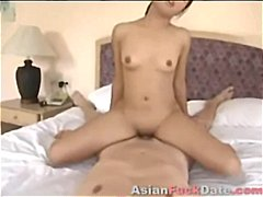 Creampie asian brunette female