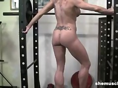 solo, blondes, flexing, kinky, legs, gym, muscle, blond, biceps, kink