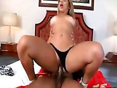 Diana lins deep throats and ravages a ebony man meat
