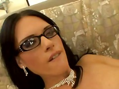 Cute jennifer dark with glasses