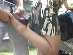 foot fetish, amateur, stockings, fetish, outdoor,