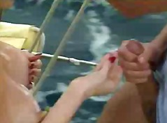 Krista pokes on boat rigid arses - jp spl