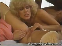 Amber Lynn, lingerie, blondes, bas, doigts, hardcore, éjaculations