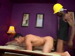 Long ebony schlong slipping his taut arse