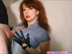 Big-titted redhead mummy hooter plumbs and gives him a pov deep throat