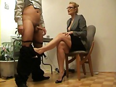 voet fetish, blond