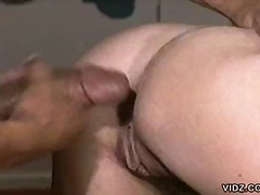 interracial, vintage, couple, redhead, hardcore, desk, office, doggystyle