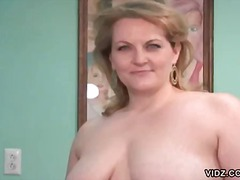Chubby blonde housewife reveals herself