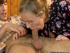 Insane housewife heads wild throating part4