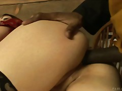 Unsatisfied with her hubby wiener, she gets the ebony meat