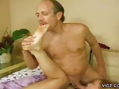 Daddy's sole fetish pleased by youthful dame