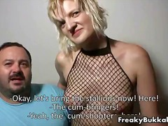 Filthy blonde fuckslut deep-throating nicely part6