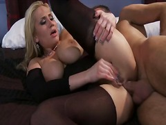 Spicy hookup nymph alanaha rae uses the fine man sausage