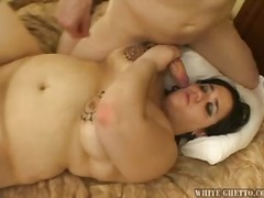hardcore, bbw, dark hair, blowjob, threesome