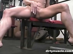 masturbation, fit, gym, dirtymuscle.com, muscle, blonde, masterbate