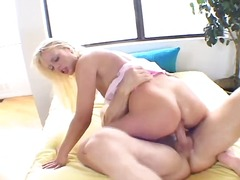 Slobbering blonde gets a chisel raw enough to plumb her ass hole