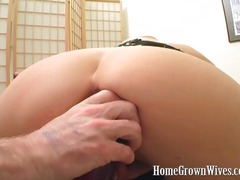 Doll uses tons of fake penises and licks fellows prick