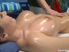 Torrid and beautiful legal year old rebecca gets poked stiff by her rubdown therapist