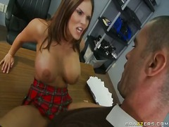 Mackenzee pierce has anal invasion at tthis chab her place of work