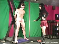 Dominatrix play hook-up game a cbt penalty game together with enduring bondman