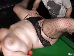 Bbw whore pulverized in fishnets
