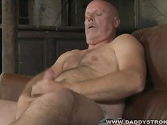 Daddy pummeling a fleshlight
