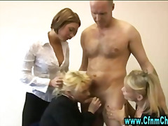 Fetish knob throating fucksluts get down on their knees for some act