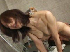 Mature asian slut yuko kasahara came to work but ends up playing with his manmeat