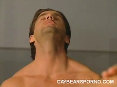 blowjob, hardcore, locker, gay, room, gym, bear, oral, 3some