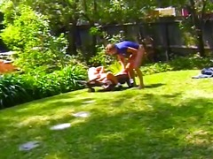 blowjob, doggystyle, big-dick, amateur, pussy-eating, sucking, hardcore, k.d., outdoors, blonde