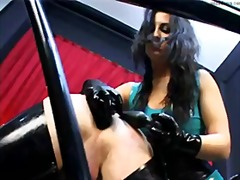 girl-on-girl, femdom, face-fucking, guy, strapon