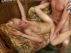Nice blonde honey from next door comes over to get munched and pumelled rock hard