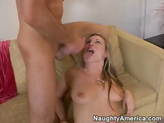 Hawt harmony rose receives boned from behind and takes a massive facial cumblow
