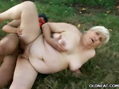 granny, outdoors, hardcore, couple, mature, bbw