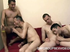 Insane gay group sex