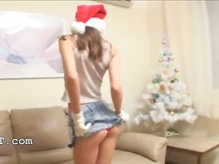 masturbation, xmas, tease, beautiful, teen, babe