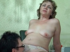 Huge-titted mature insane bitch gets labia part2